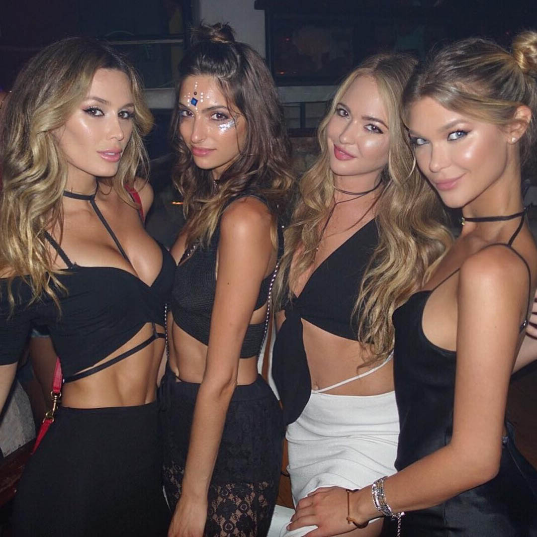 Вечеринка с моделями